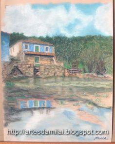 Reflexo Pastel, Painting, Cross Stitch, Pintura, Cake, Painting Art, Paintings, Painted Canvas, Crayon Art