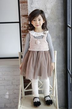 Knitted Top Lace Dress