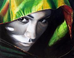 Un cuadro de José María Madrid titulado La de los ojos negros. www.josemadrid.com