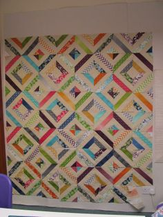 strip piecing quilts | ... up quilting close up quilting on the ... : string pieced rag quilt pattern - Adamdwight.com