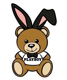 RIP Hugh Hefner @playboy #RIPHef Hype Wallpaper, Cartoon Wallpaper Iphone, Bear Wallpaper, Aesthetic Iphone Wallpaper, Aesthetic Wallpapers, Moschino Bear, Grafiti, Bear Illustration, Marken Logo