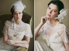 Featured on Green Wedding Shoes  English Garden Inspiration  Makeup and Hair KC Witkamp  Photography: This modern Romance  Hair pieces by Erica Elizabeth Designs