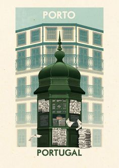Portuguese travel posters by Rui Ricardo -
