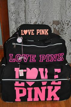 Fabulous VS PINK luggage set..perfect for a summer getaway ...