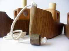 Wooden pull toy eco friendly   BOAT  by toporko on Etsy, $29.00