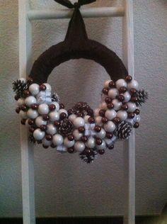 Kerstballen krans