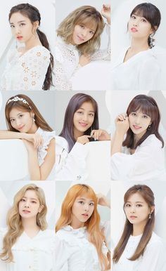 Twice in white theme Nayeon, Kpop Girl Groups, Korean Girl Groups, Kpop Girls, Twice Dahyun, Tzuyu Twice, Video Show, Twice Photoshoot, Twice Group