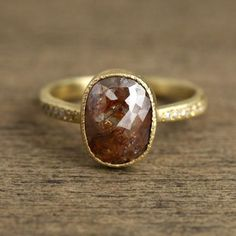 Women's #Fashion #Jewelry:  2.49ctw Brown Diamond Ring: Rings