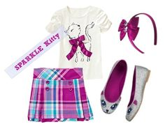 Gymboree Sparkle Kitty Style Outfit for School
