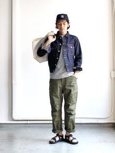 Post with 11532 views. Workwear Fashion, Mens Fashion, Curvy Fashion, Fall Fashion, Fashion Trends, Gentlemans Club, Denim Jacket Men, Japanese Outfits, Japanese Street Fashion