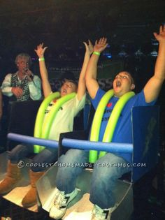 Great Couples DIY Roller Coaster Ride Costume... This website is the Pinterest of costumes
