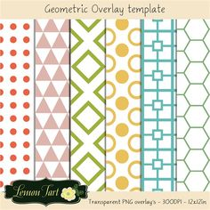 Geometric shapes overlay transparent background