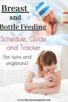 Baby Feeding Guide, Schedule, and Tracker For Twins and Singletons - The Everyday Mom Squad Breastfeeding Facts, Breastfeeding And Bottle Feeding, Breastfeeding Positions, Breastfeeding Problems, Baby Feeding, Newborn Nursing, Child Nursing, Happy Parents, Baby Development