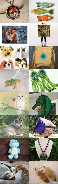 Lacwe Animal Club by Laura Sultan on Etsy #handmade #lacwe #accessories #décor #suncatcher #jewelry #vintage #fineart