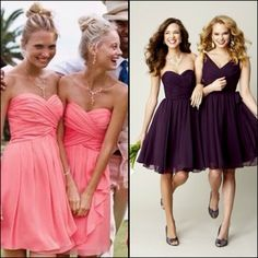 If my wedding is in  Spring/summer- coral Fall/winter- dark purple  Perfect!