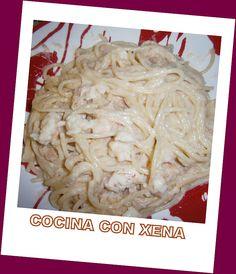 COCINA CON XENA: Espaguetis con salsa de gambas y atún....en TH