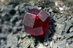 Cuprite -Naturally formed Crystal, Isometric - Hexoctahedral form,  Locality: Madonna di Fucinaia (Madonna della Fucinaia; slag locality), Campiglia Marittima, Livorno Province, Tuscany, Italy