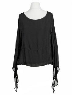 Damen Chiffon Bluse, schwarz von Miho's bei www.meinkleidchen.de