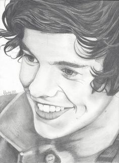 """My drawing of Harry Styles  from my """"To Be Drawn"""" board"""