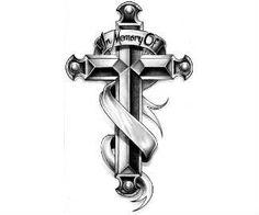 Cross Tattoo Design Model