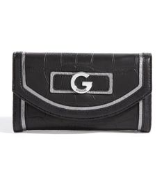 G by GUESS Ailey Rounded Flap Wallet, BLACK G by GUESS. $29.50