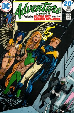 Legion of Superheroes - Dawnstar, Lightning Lad and Spider-girl in retro mock-up! cool custom art/cover art
