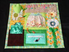 Garden Girl  - Fidget Quilt- Tactile - Bright & Colorful