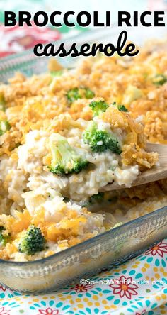 Easy Broccoli Rice Casserole with Turkey! This is the perfect easy way to enjoy your leftover turkey.
