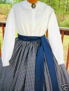 CIVIL WAR DRESS BLOUSE & COLLAR~VICTORIAN~100% COTTON CUSTOM FIT~ANY SIZE~COLOR