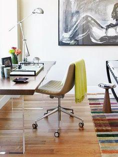 Contemporary Office - Minimalist New York Apartment on HGTV