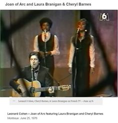 Laura Branigan Montreux 1976, as backing singer with Cheryl Barnes in Leonard Cohen's 1st European tour. Laura did only one (1) tour with Cohen. She is 24 in 1976. Note! Laura  performed, sometimes twice in the same concert, during his 1976 tour. Read more here about Laura and the 1976 tour... http://cohencentric.com/tag/1976-leonard-cohen-tour/