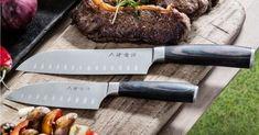 Få Santoku knivsett i velkomstgave Kitchen Knives, Beef, Meat, Steak