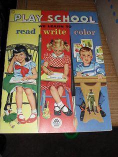Vintage Play School Coloring Book 1956 Merrill Company