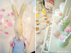 The Dad rabbit of Maileg decorated this girl 1st birthday