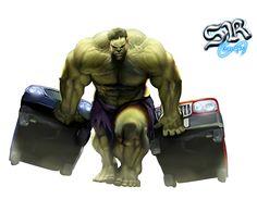 Render hulk vert voiture - Marvel - Comics - PNG image sans fond - Posté par…