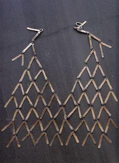 Necklace | Alexander Calder.  Silver wire.  ca. 1940
