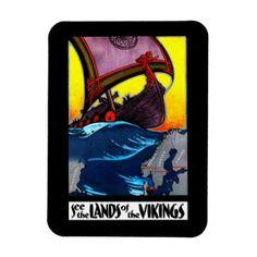 Lands of the Vikings Magnet - home decor design art diy cyo custom