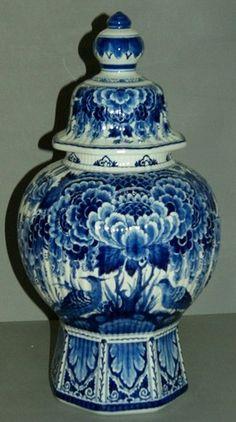 Delft Blue XX Large Vase with Lid Porceleyne Fles Holland | eBay