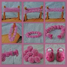 Yarn has been a craft staple for generations. People has been working on colorful yarn to knit, weave, crochet, craft or sew textures that are beautiful, soft and fluffy. I really have a strong liking on crafting with yarn in my leisure time. Hobbies And Crafts, Diy And Crafts, Crafts For Kids, Arts And Crafts, Pom Pom Rug, Pom Poms, Pom Pom Crafts, Yarn Crafts, Craft Projects