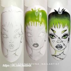 Halloween Nail Designs, Halloween Nails, Work Nails, Disney Nails, Nail Art Designs, Nails Design, Nails Inspiration, How To Do Nails, Art Lessons