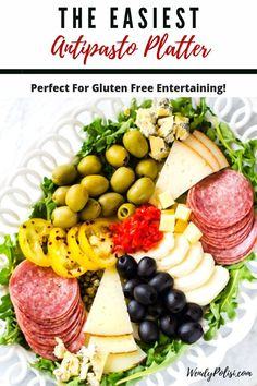 If you love appetizers that keep the whole family happy this recipe is for you.  It is the EASIEST Antipasto Platter ever!  This healthy gluten-free recipe is so ridiculously full of flavor. I am so happy that I found this deliciously easy meal. #lglutenfree #glutenfreeappetizer #healthy Easy To Make Appetizers, Easy Appetizer Recipes, Healthy Appetizers, Appetizers For Party, Cold Appetizers, Italian Appetizers Easy, Delicious Appetizers, Chicken Appetizers, Appetizer Ideas