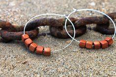Silver and Wood earrings. #DIY #Jewellery