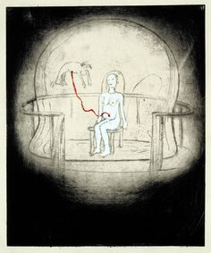 Louise Bourgeois, Do Not Abandon Me, Drypoint, 1999