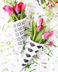 Tolle Blumenstraußverpackung zum selberdrucken