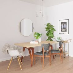 Dining room design on a budget. Would you be able to stay under budget? Click on the link in our bio to see what our Style team put together when asked to design a dining room space with just $3000. #ModsyMagic