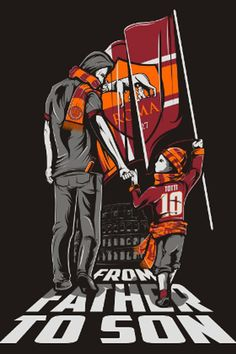 The Roma Art series continues today with a look at the work of Indonesian graphic designer Fauzan… Football Is Life, Football Design, Football Art, Chelsea Football, As Roma, Totti Roma, Ultras Football, Football Tattoo, Cartoons