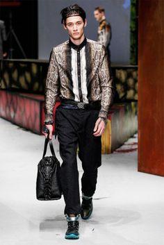Roberto Cavalli Autumn Winter 2014 menswear