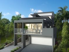 Modern beach house in australia luxurious home design with futuristic modern australian farm house with kindesign modern contemporary home in By Tural House Designs Australia From 1 600 Read Porsche Garage, Car Garage, Open Plan Kitchen Dining, Construction Cost, Craftsman House Plans, Australian Homes, House Floor Plans, 5 Bedroom House Plans, Modern House Design
