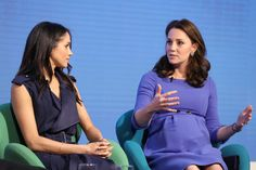 Kate Middleton Photos - (L-R) Meghan Markle and Catherine, Duchess of Cambridge attend the first annual Royal Foundation Forum held at Aviva on February 28, 2018 in London, England. Under the theme 'Making a Difference Together', the event will showcase the programmes run or initiated by The Royal Foundation. - First Annual Royal Foundation Forum