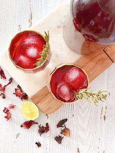 Ice Cold Hibiscus Tea {Karkade} - Measuring Cups, Optional Hibiscus Leaves, Hibiscus Tea, Ginger Tea, Fresh Ginger, Soup Cleanse, Lemongrass Tea, Rich Recipe, Iced Tea, Coconut Water